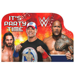 Wwe Wrestling Stars Postcard Invitations Kids Birthday Party