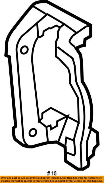 Ford Oem Disc Brake Caliper Bracket Ac3z2b511a Image 15 For Sale