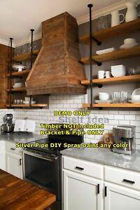 Rustic Industrial Furniture Vintage Ceiling Hung Pipe Mount Bracket Shelf BS034