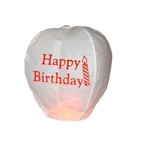 5 x HAPPY BIRTHDAY Sky Lanterns 100/% Biodegradable eco friendly Sky Lanterns