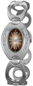 Excellanc-Damenuhr-Braun-Silber-Strass-Analog-Metall-Armbanduhr-X150027000106