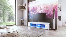"White High Gloss Modern TV Stand Unit Media Entertainment Center ""Movie"""