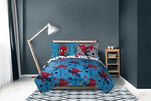 Spiderman Full Bedding Set Comforter And Sheets Set Teen Kids Bedding Boys 4pc Ebay