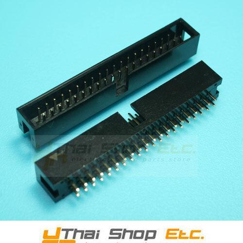 10 Pcs. 2x20 40 Pins Box Header IDC Male Sockets Straight 2.54mm