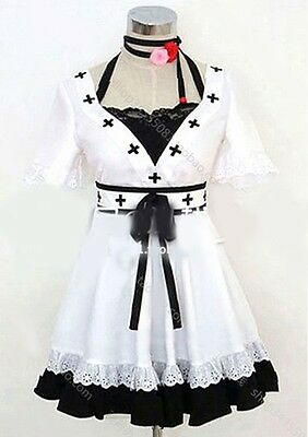 VOCALOID World Is Mine Cosplay Costume White Mix Black Full Set Dress