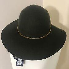 Donna Segna Spencer's Verde Kaki Cappello di Lana Fedora Catena D'oro Accessori S/M