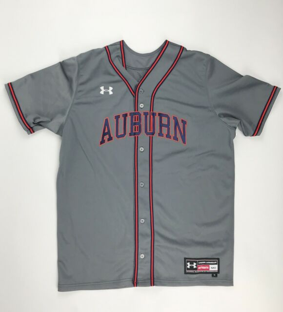 4e3e917f6 New Under Armour Men s M Auburn Tigers Rundown Baseball Jersey  37 Grey  45