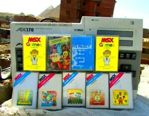 Vintage-Computer-Sakhr-MSX-AX170-With-9-Tapes-Of-Rare-Games-5