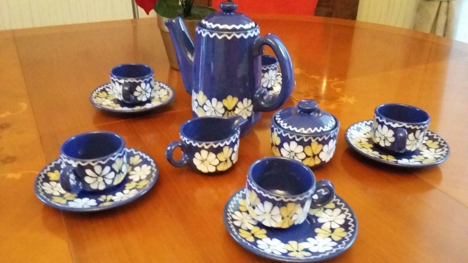 Ungarn Keramik Kaffeeservice aus 13 tlg.