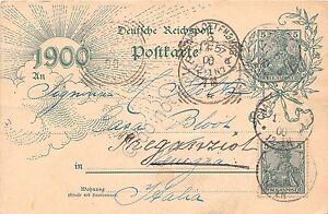 Cartolina-Illustrata-Augurale-1900-tedesca