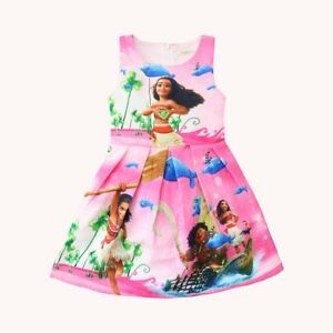 Costumes, Reenactment, Theater Kids' Clothing, Shoes & Accs Lovely Girls Kids Moana Sleeveless Party Holiday Birthday Dress B4