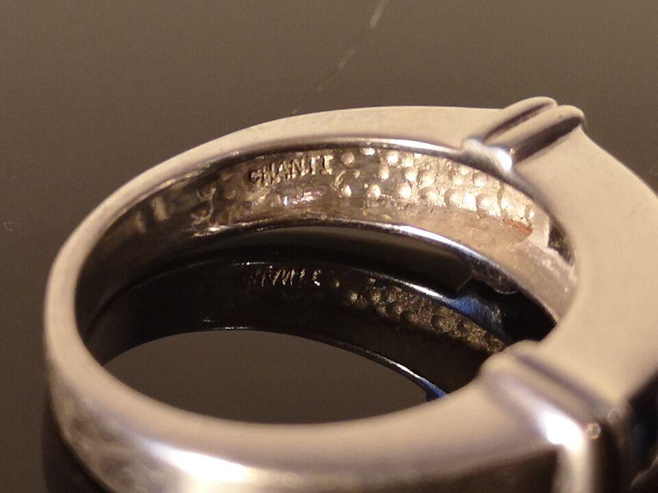 Fingerring, sølv, Chant