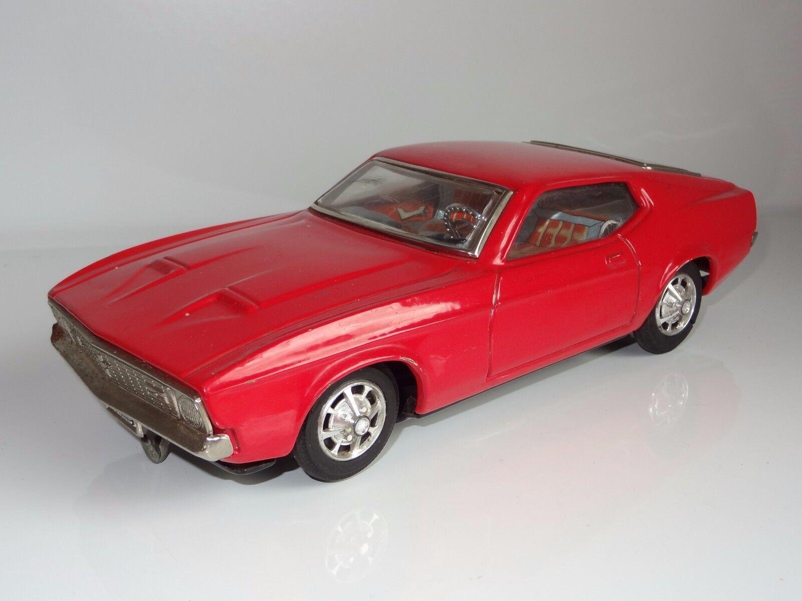 (C) JAPAN TAIYO Bump N Go Ford Mustang-FER BLANC LITHOGRAPHIE 1967