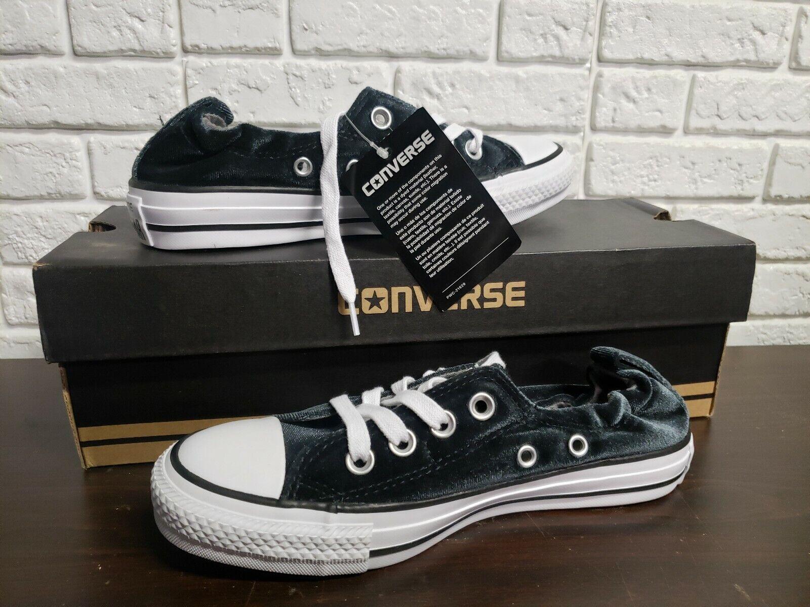 Converse Women/'s CT AS Shoreline Slip Sneakers,Black