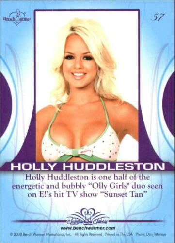2008 BENCH WARMER Trading Card  #57 Signature Series Card HOLLY HUDDLESTON