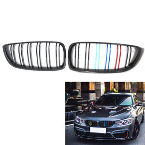 07001192b8c Gloss Black Front Kidney Grille Double Slat M4 Style for BMW F32 F33 ...