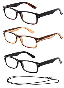 7840f057ffc Image is loading High-Quality-Reading-Glasses-Fashion-Rectangular-Reading- Glasses-