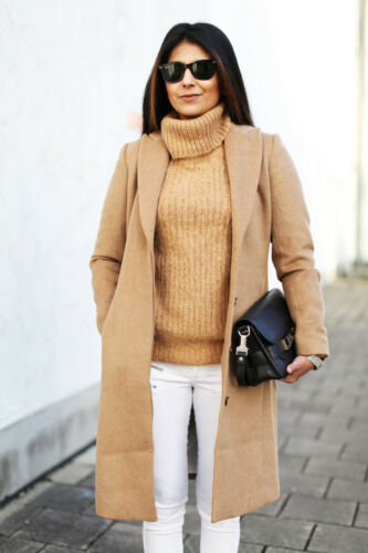 Trend Christmas Sold Wool amp;m Bloggers Camel H Winter Coat Out Blend qUTR5Hx5