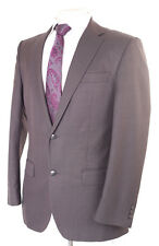 PIERRE CARDIN GREY PLAIN WOOL BLEND MEN'S SUIT 38R DRY-CLEANED