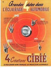 PUBLICITE ADVERTISING  1952   CIBIE  éclairage automobile