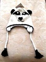 Animal Face White Panda Bear Hat Beanie Winter Ski Cap Adult Gift One Size