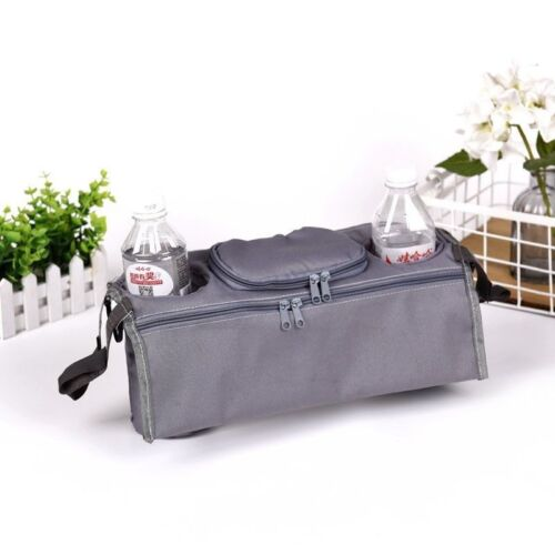 GREY Evenflo Infant Baby Stroller CupHolder Organizer Wipes Diaper Phone NEW Toy