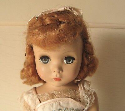 "Lovely Unmarked Madame Alexander Maggie 17"" Hard Plastic Doll Orig Auburn Hair"