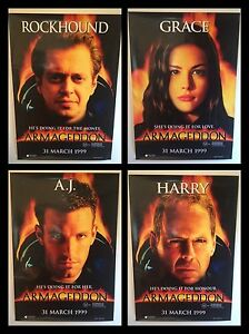 armageddon 4 x movie posters 990mm x 700mm each rare space