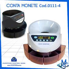 CONTAMONETE CONTA MONETE 4 CASSETTI PROFESSIONALE SEPARATORE € SEPARA MONETE