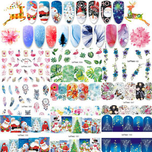 10Sheets-Christmas-Nail-Decals-Water-Transfer-Nail-Art-Stickers-Decorations-Tips