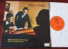 ELGAR SONGS LP RAYNER COOK VIGNOLES PEARL SHE 626 (1976) NM ENGLAND