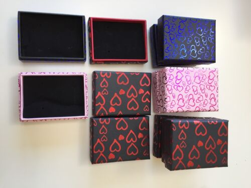 1-48 Wholesale PINK Blue Black Gift Box For Jewellery Wedding Favour Valentine