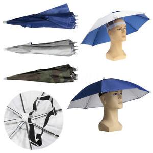 fb9d58670d2 Foldable Sun Rain Head Umbrella Hat Headwear Cap Fishing Hiking ...