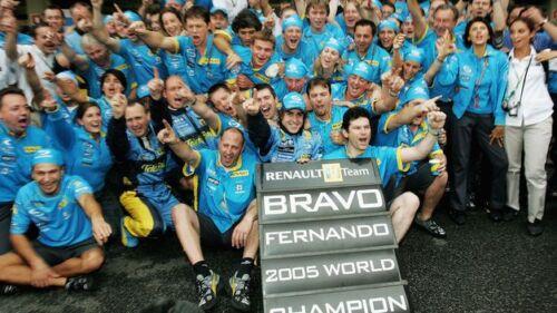 2005 to minichamps NEW 1:18 Pitboard F1 Formula1 Fernando Alonso Renault W.C