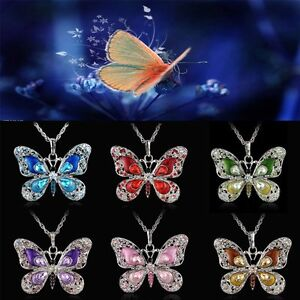 Fashion-Women-Butterfly-Crystal-Sweater-Chain-Charm-Pendant-Necklace-Jewelry-New