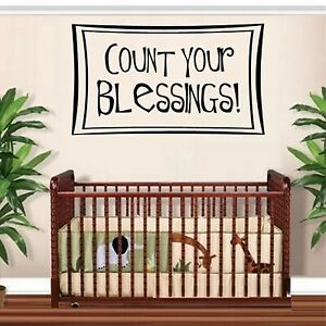 Count your Blessings Vinyl Decal