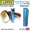 PERSONALISED-ENGRAVED-METAL-CLIPPER-LIGHTER-BLACK-BLUE-GOLD thumbnail 10