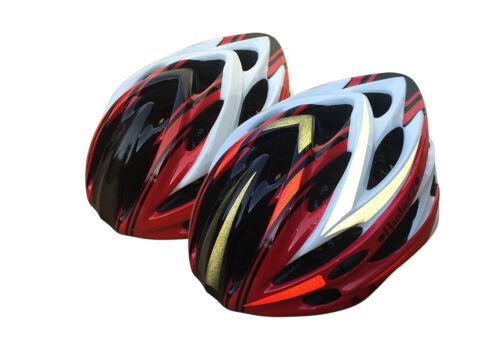 HardnutZ Bike Helmet Road Mountain Bicycle Cycling Hi Vis MTB Red White Black