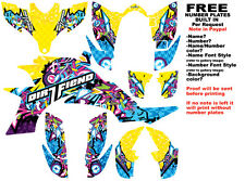 DFR BOMBER GRAPHIC KIT ELECTRIC COLORS FULL WRAP YAMAHA YFZ 450 YFZ450
