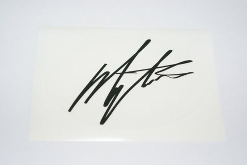 Giacomo Agostini Autograph Decal in Black