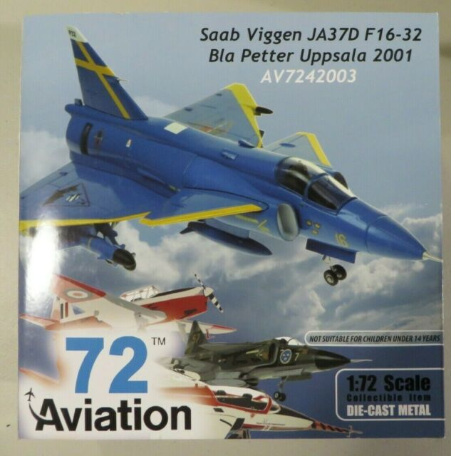 AVIATION72 AV7242007 1//72 SAAB VIGGEN JA37 01 LAST FLIGHT AUGUST 2000