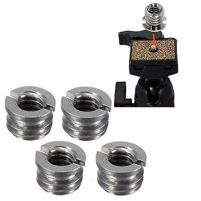 "4x Metal 1/4"" to 3/8"" Convert Screw Adapter for Camera Tripod + Monopod Ballhead"