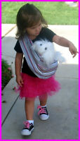Child Doll Sling Baby Carrier Pet Dog Pretend Play Toy Many Colors Size 2-12