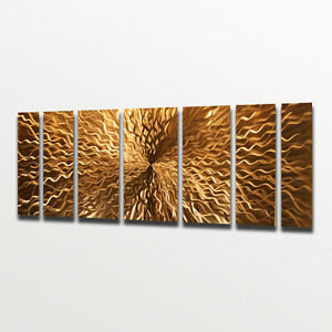 Modern contemporary abstract metal wall art sculpture painting home decor copper ebay Home decor wall art contemporary