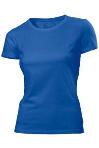 d96ab701426e Image is loading Hanes-Plain-ROYAL-MID-BLUE-Organic-Cotton-Womens-