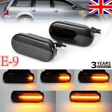 1PAIR Dynamic LED Side Indicator Smoke Turn Signal Light For FORD SEAT SKODA VW