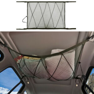 Car Ceiling Mesh Storage Bag,Adjustable Elastic Bag Organizer Cargo Net