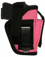 Usa Holster Xtra Mag Custom Pink Small Auto 22 25 32 Kel-tec 380 Colt Ruger Lcp