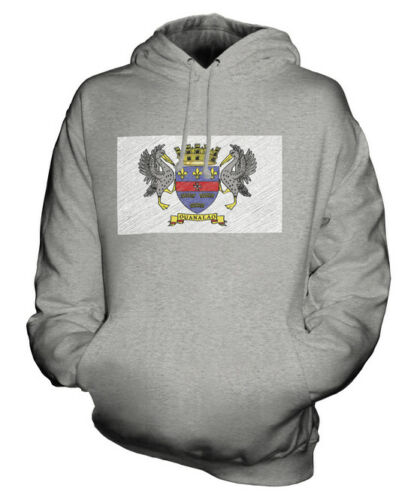 Scarabocchiato Barthelemy Saint Maglia Idea Felpa Bandiera Unisex Regalo BzA5UAwq