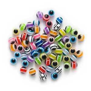50-Piece-Random-Mixed-Eye-Stripe-Round-Resin-Jewelry-Making-Spacer-Beads-6-12mm